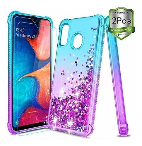 Icoold Samsung Galaxy A20 Case Galaxy A30 Case W / [2 Pcs Sc