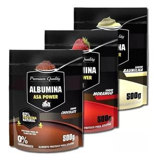 5x Albumina 500g Zero Carbo - Asa - 4 Sabores - 25g Proteina