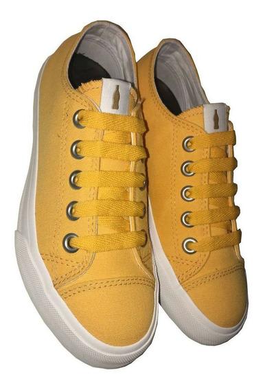 Tênis Coca-cola Basket Canvas Amarelo Cc1701