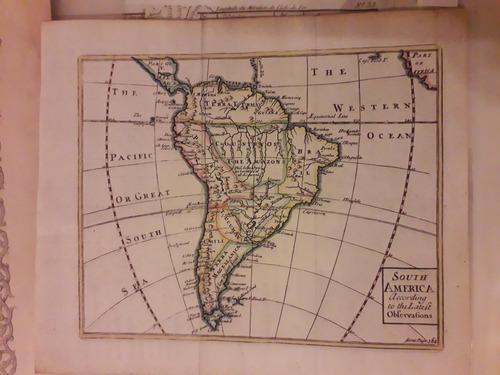 Mapa De America Del Sur J. Senex C. 1741 Certificado