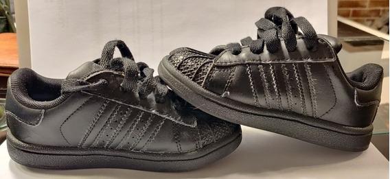Zapatillas adidas Cuero Negras Superstar