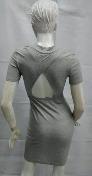 Vestido Gris Sensual De Dama