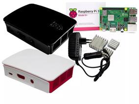 Kit Raspberry Pi3 B+, Fonte, Case, Dissipadores, 16gb