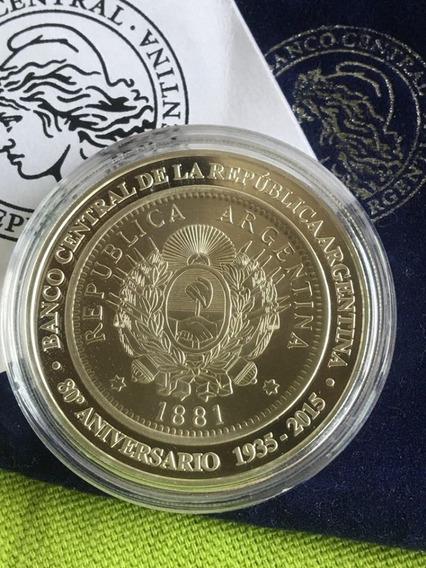 Argentina : 1 Peso De Plata 2015 80 Aniversario Bcra