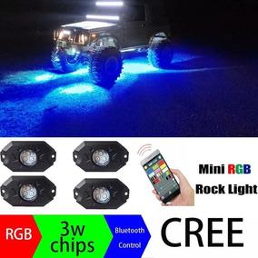 Led Rock Light Rgb Bluetooth Kit 4 Peças