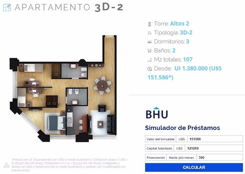 Apto 3 Dormitorios Altos Del Libertador P1