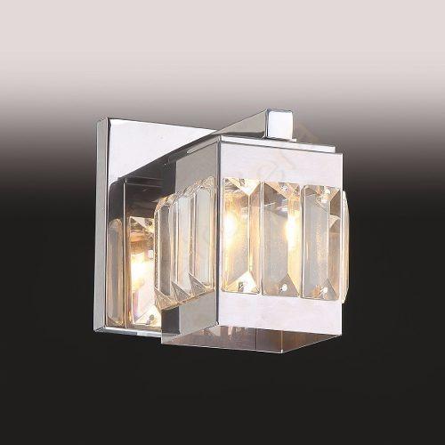 Arandela Cristal E Inox Box Interna Banheiro Sala + Led