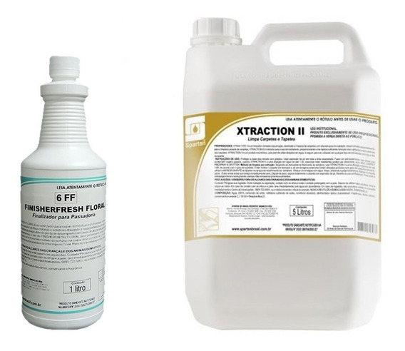 Kit Detergentes Finisher Fresh 1l + Xtraction 5l Spartan