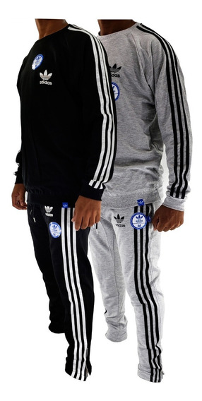 Conjunto Buzo Adids Retro Y Pantalon Trefoil Hombre Sport