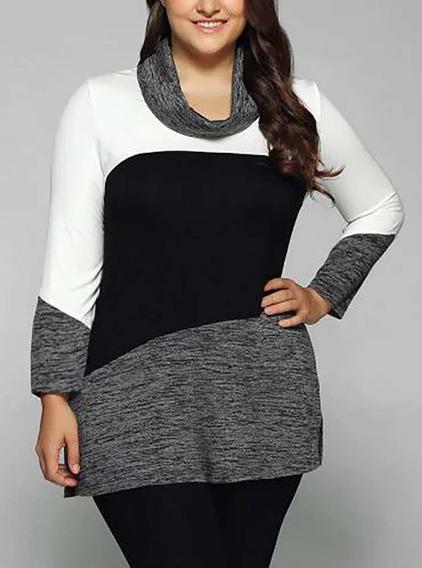 Vestido Feminino Blusa Blusão Lycra Importado 479