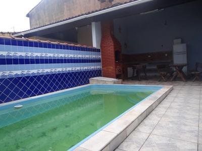 Casa Com Piscina Na Praia Mongaguá .ref 6992