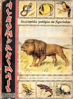 R455 Álbum De Animais Edigraf 1958 Completo
