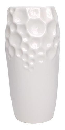 Vaso Alto Trabalhado Branco G | 15 Larg X 28 Alt X 28 Prof
