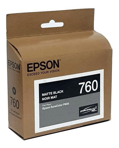 Imagem 1 de 2 de Cartucho 760 Matte Black - Epson Surecolor P600