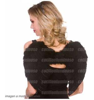 Alas De Angelito Color Negro Plumas Disfraz Despedida