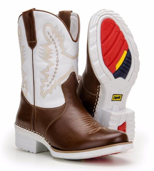 Bota Country Masculina Western Sola Branca - Capelli Boots