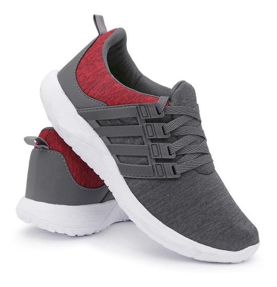 Tênis Sneaker Esportivo Running Leve Calce Fácil Dia A Dia