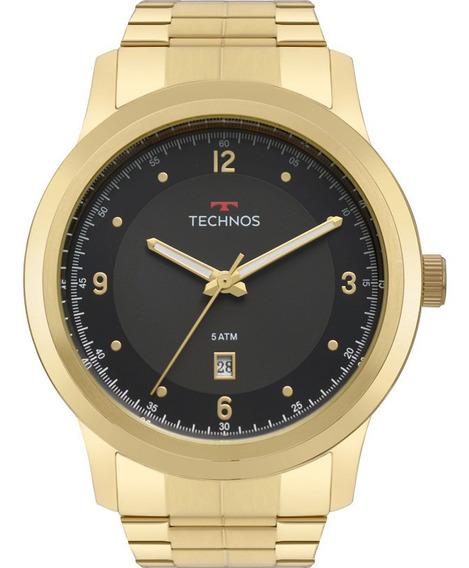 Relógio Technos Masculino Classic Dourado 2115mrf/4p