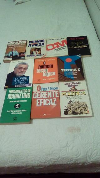 Lote 10 Livros Administração E Econômia
