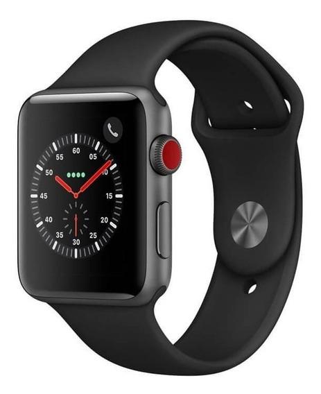 Applewatch Series3 Cellular,42mm, Alum.spacegray, Puls.preto
