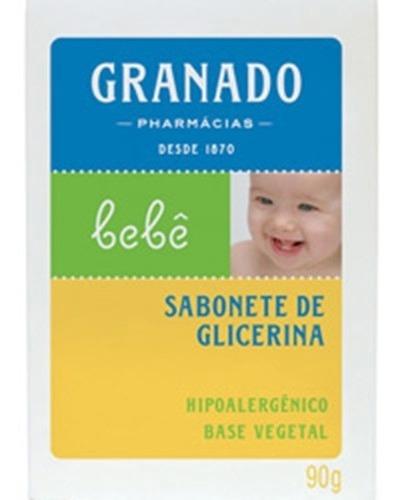 Sabonete Tradicional Em Barra De Glicerina P/ Bebês 90g