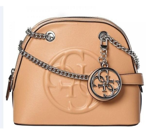 Cartera Cuero Guess Korry Shoulder Bag Caramel