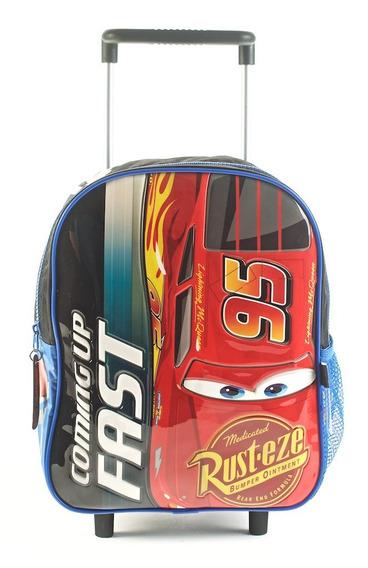 Mochila Cars 12 Pulgadas Con Carro 81301 Original!!