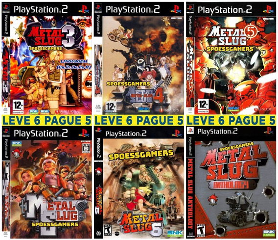 Metal Slug Collection (6 Jogos) Ps2 Desbloqueado Patch