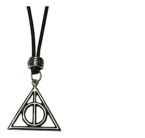 Colar Harry Potter Relíquias Da Morte Regulável