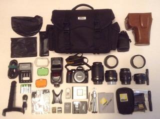 Cámara Nikon D3000 + Equipo Fotográfico