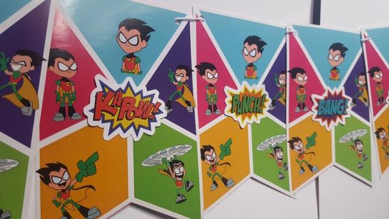 Banderin Robin Jovenes Titanes Teen Titans Go Golpes