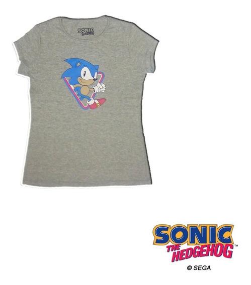 Remera Dama Sonic The Hedgehog Oficial Sonic Sega