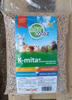 Pellet Sustrato Para Mascotas Biodegradable Kmita 10 Kg
