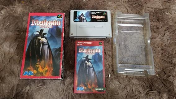 Nosferatu Original Completo Nintendo Super Famicom.