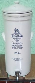 Filtro De Agua Antiguo De Porcelana Inglesa Royal Doulton.