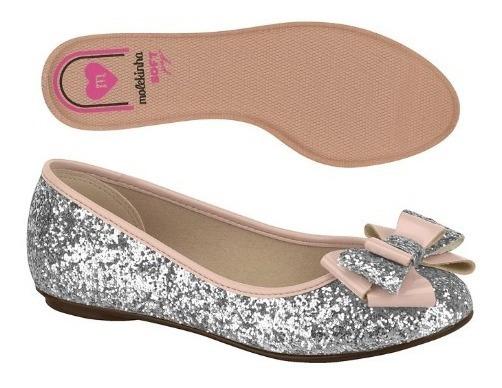 Chatas Molekinha Guillerminas Moño Glitter Nenas New Glamour