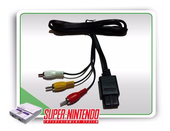 Cabo Av Super Nintendo Snes Game Cube Nintendo 64 Recife Pe