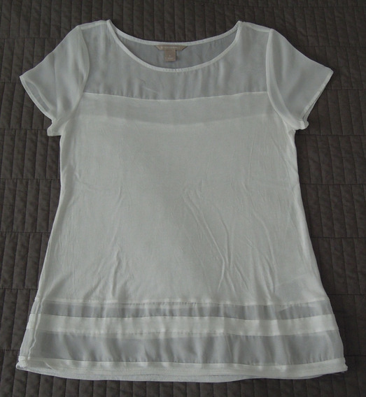 Remera Banana Republic Blanca Mujer - Talle S - Impecable