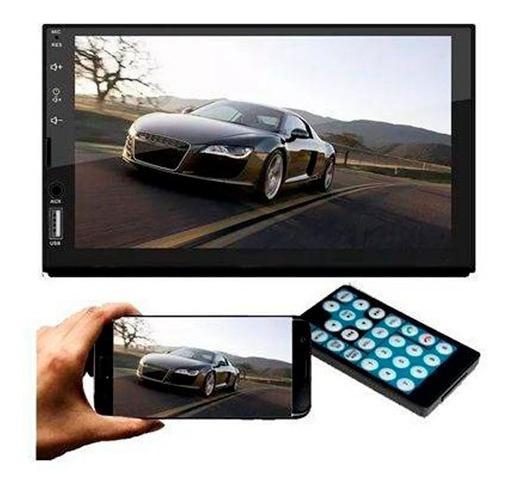 Multimídia 2 Din Universal Espelhamento Android Ios Usb Sd
