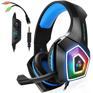 Xbox One Auriculares De Diadema Para Ps4 Pc Con Luz Led Y Mi