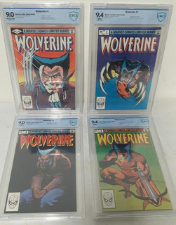 Wolverine ( Comic Set 1982 ) # 1-4 Cbcs 9.4-9.0 No Cgc