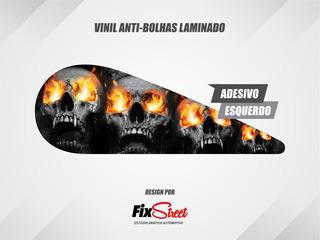 Adesivos Gota Skull Flames Harley Davidson Dyna Super Glide