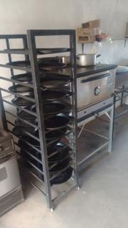 Carro / Zorra Pizzero Para 26 Pizzas A Medida