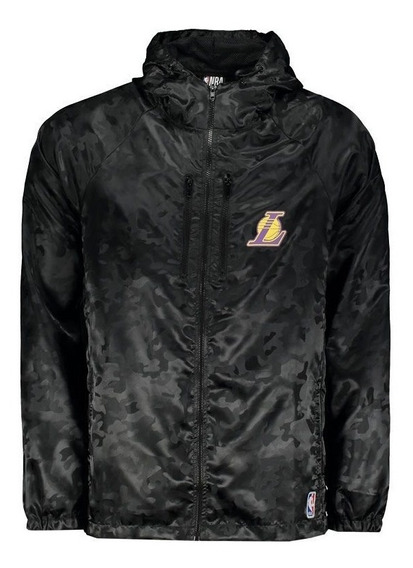 Jaqueta Nba Los Angeles Lakers Camuflada Preta