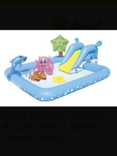 Pileta Inflable Tobogan Acuario Niños Bebes Infantil Nemo