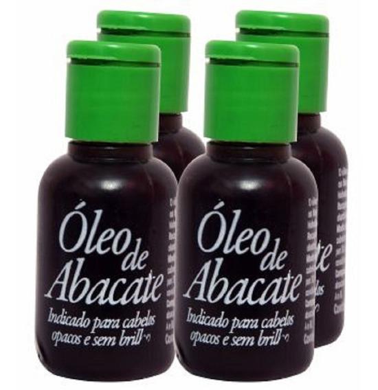 Óleo Vegetal Natural Abacate - Cabelo Seco 4 Unidades