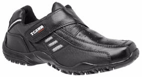Sapatênis Masculino Velcro Couro Tchwm Shoes Confortavel