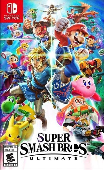 Super Smash Bros Ultimate Switch Mídia Física Lacrado