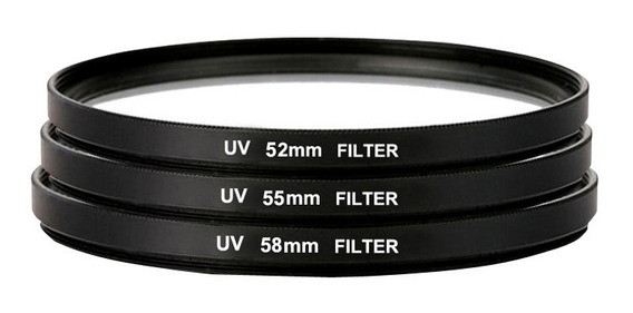 Uv Ultra Violeta Filtro Lente Protetor 52mm 55mm 58mm 62mm 6
