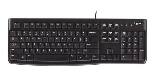 Teclado Logitech K120 QWERTY español color negro